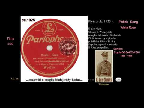 Polish Song White Rose-Białe róże. Disc PARLOPHONE ca 1920 VTS 01 1