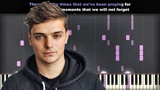 Martin Garrix Feat JRM   These Are The Times | Piano Cover | Instrumental Karaoke