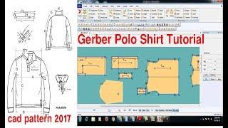 Gerber Polo Shirt Tutorial | Gerber Polo Shirt Design | T Shirt Design By Gerber Software | Accumark