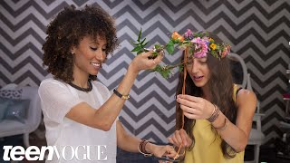 How To Make A Flower Crown - 3 Steps To - Teen Vogue