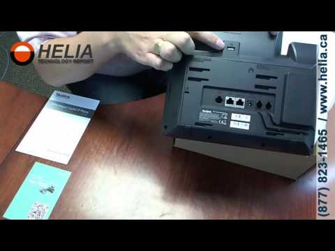 Unboxing the Yealink T48g Office Desk Phone with Large Touch Screen