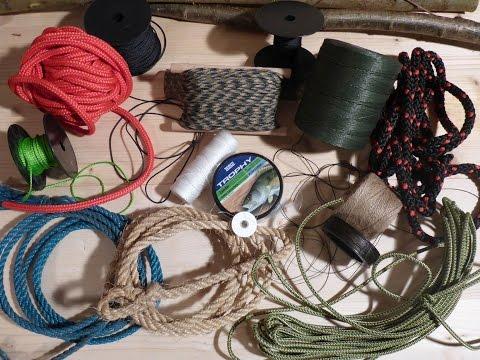 Outdoor Schnur - Seil - Leine  --  Materialien und Beispiele