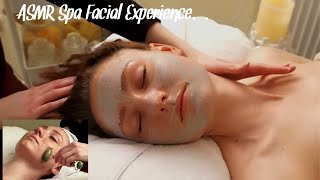 ASMR Spa Facial For Relaxation And Sleep | Music & Soft Spoken | Jade Roller & Gentle Touch Massage.