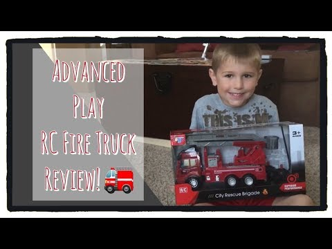 Advanced Play City Rescue Brigade Remote Control Fire Truck Unboxing & Review! Toy Trucks For Kids!