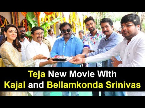 Bellamkonda Sai Srinivas, Kajal and Teja New Movie Opening