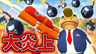 【ゆっくり実況】最強の火炎放射器で町中を大炎上させたら大変な事に!?ゲロ吉、ついに…!!【Amazing Frog】