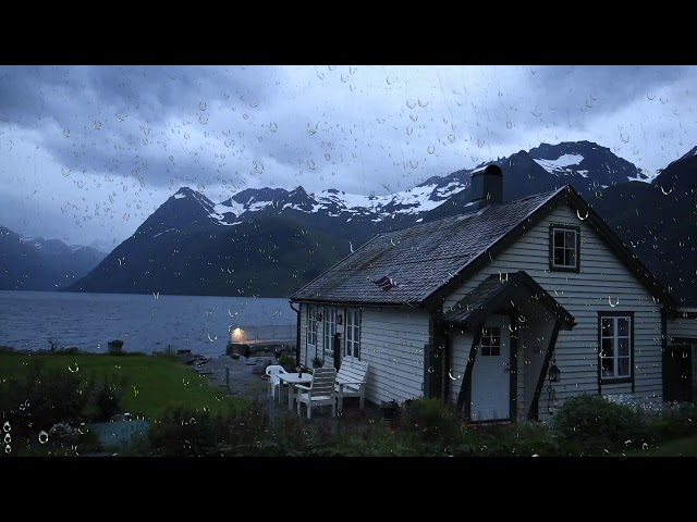 Thunderstorm Sounds by the Lake House   Thunder and Rain for Sleeping, Relaxing or Study