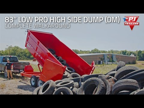 2020 PJ Trailers 83 in. Low-Pro High Side Dump (DM) 14 ft. in Hillsboro, Wisconsin - Video 1