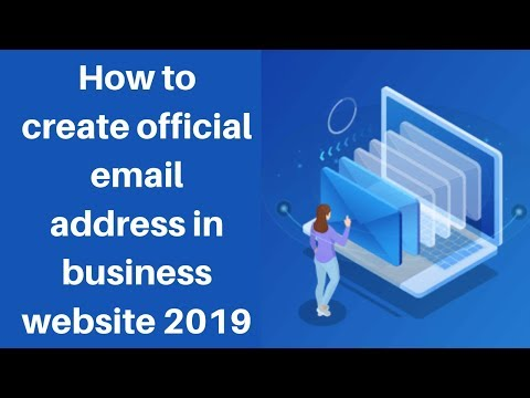 How to create official email address in business website 2019