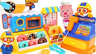 Let's eat delicious Donuts with Pororo and Tayo~ Pororo's Donut Shop!   PinkyPopTOY