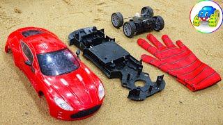 Dump truck carries broken cars for repair - Kid Studio