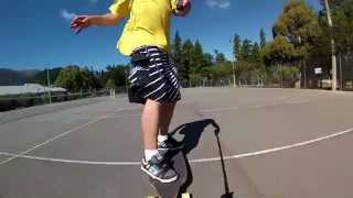 preview picture of video 'Longboard dancing, Hanmer Springs, training with new board :p'
