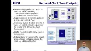UFT Programmable Clock Synthesizer for 100 GbE and OTN Line Cards by IDT