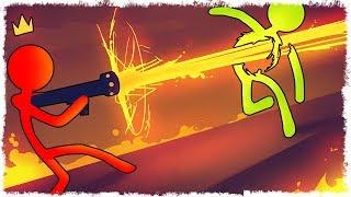 ЛАВА ПУШКА VS ЧЕЛОВЕЧЕК В STICK FIGHT THE GAME!!!