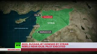 Russian Su-25 jet downed in Syria, pilot killed – MoD