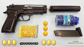 Realistic Beretta Toy Gun   Yellow Plastic Ball Bullet Airsoft BB Gun   Italian Military Toys