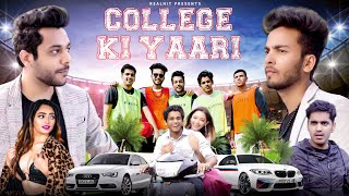 Ab video khol li hai toh end tak dekhna zaroor.  This video shows rivalry between the two groups in a college. Two groups are led by Piyush Gurjar and Elvish Yadav. Watch it till the end to know how both the groups end up becoming best friends. We hope you enjoy this funny college video. LIKE COMMENT KERNA MAT BHOOLNA. LOVE YOU ALL.  Elvish Yadavs Channel https://www.youtube.com/channel/UCbmu9wfzxKls40WkCzvqtRA  Vlog Channel-(DSP VLOG)  https://www.youtube.com/channel/UCqEt...    Facebook.  https://www.facebook.com/Realshitvideos    Instagram-  @RealHit https://www.instagram.com/realshit_vi...     Personal Instagram:   Shubham Gandhi-  https://instagram.com/theshubhamgandh...  Piyush Gurjar -  https://instagram.com/thepiyushgurjar...   Deepak Chauhan -  https://instagram.com/thedeepakchauha...   PRODUCED BY- RealHIT   CAST-  ELVISH YADAV, SAMEER MONGA, KIRTI CHAND, SHUBHAM GANDHI, PIYUSH GURJAR, DEEPAK CHAUHAN. DIRECTOR- NITIN GOYAL, Team RealHlT  COLOR GRADING- NITIN GOYAL CAM  VFX- AMANVFX Line Producer- Naman Bhardwaj  CINEMATOGRAPHER-  NITIN GOYAL CAM Thumbnail- Vishal Rana ( PHOENIX)   WRITERS-  Team RealHIT  EDITOR- HONEY & TEAM RealHIT