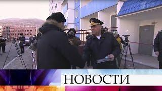 ВоВладивостоке военнослужащие Тихоокеанского флота получили ключи отквартир.