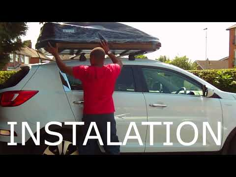 Thule touring 200 roof box unboxing, instalation