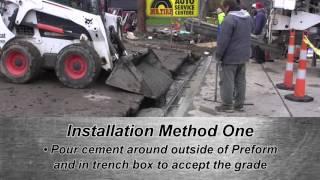 Preform Trench Drain Installation Methods