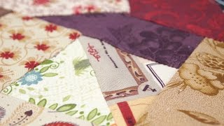 Hand-Piecing Crazy Quilt Squares Onto Foundation Fabric