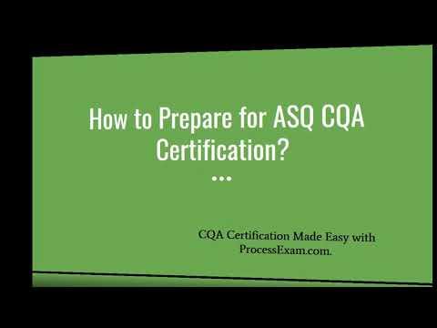 ASQ CQA Exam Questions - YouTube
