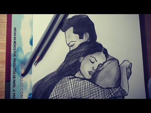 Como Dibujar A Una Pareja Anime Dibujos A Lapiz Dibujos De Amor