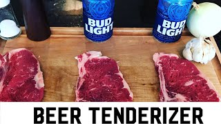 Beer Tenderizer Steak Experiment - Can you tenderize/marinate with a beer?