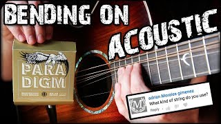 Bending On Acoustic Guitar Made Easy!