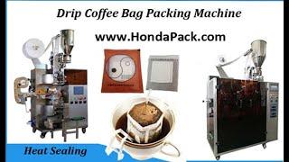 Japanese drip coffee bag packing machine, high speed coffee packaging machine youtube video