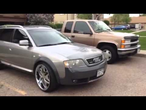 "Audi allroad 2001 on 22"" rims"
