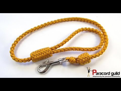 Braided paracord dog leash- herringbone style