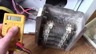 Dryer Repair - How to test the Heating Element