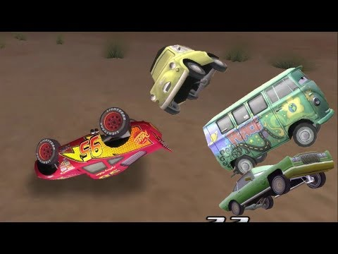 Disney Pixars Cars Movie Game - Crash Mcqueen 169 - Flying Filmore And McQueen