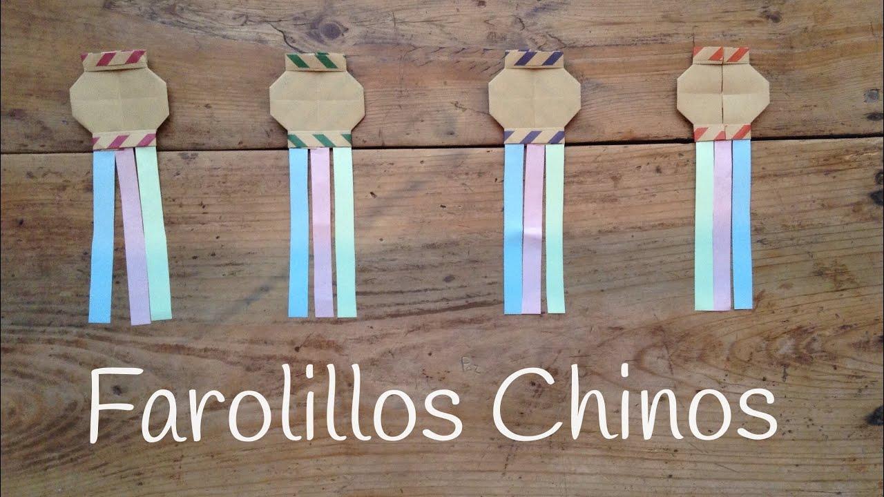 FAROLES DE PAPEL chinos para fiestas  |  Origami fácil para niños