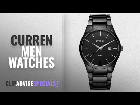 10 Best Selling CURREN Men Watches [2018 ]: CURREN Men's Watches Classic Black / Silver Steel Band