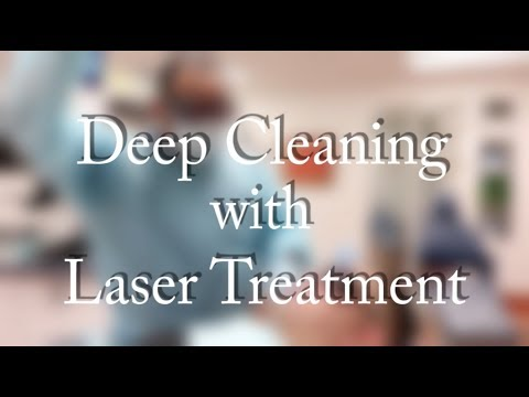 Deep Cleaning with Laser Treatment