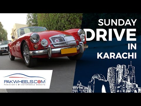 Sunday Drive In Karachi | MG | Thunderbird | PakWheels