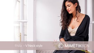 How To Wrap V Neck Dress And Lace Top Style - Frida | MIMÈTIK BCN