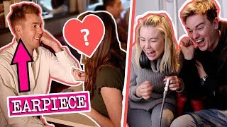 DATING 10 WOMEN IN 1 HOUR! *EARPIECE* ft Jack and Toff