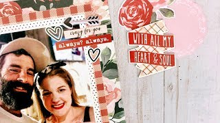 Simple Stories: Kissing Booth 6x12 Layout
