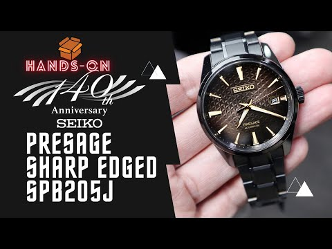 Seiko Presage Sharp Edge PVD 140th Anniversary Limited Edition SPB205J1