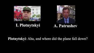 Intercepted telephone call by Igor Plotnitskiy (LPR