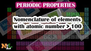 CH06-CLASSIFICATION OF ELEMENTS-PART06-Nomenclature of elements with atomic numbers grater than 100
