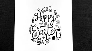 How To Write Happy Easter In Stylish Text || Write Happy Easter In Cursive || Lettering