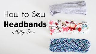 Learn To Sew A Headband - DIY Workout Headband