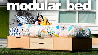 Kids Bed With Lots Of Storage | Twin Size