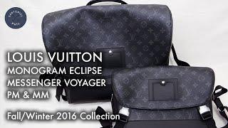 Louis Vuitton Monogram Eclipse Messenger Voyager PM & MM Unboxing