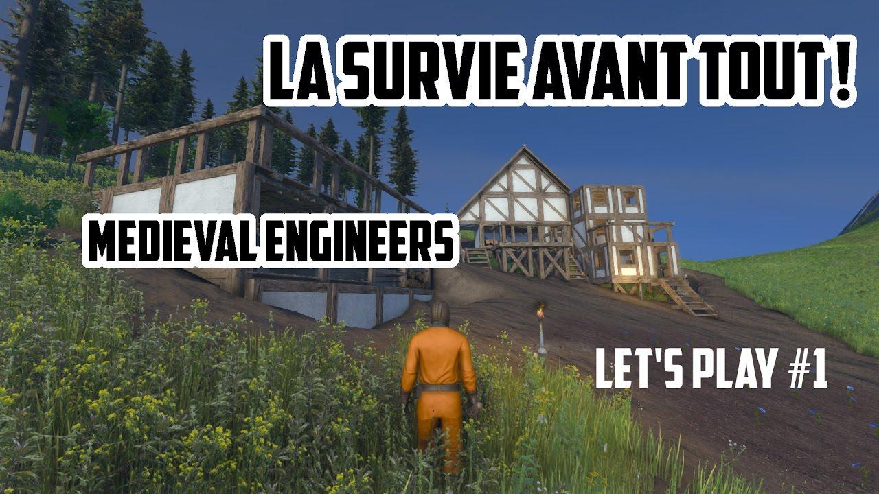 LA SURVIE AVANT TOUT ! (Médiéval Engineers Let's Play FR #1)