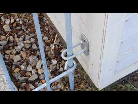 Wandhalter zum Hundezaun anneau verzinkt (rostet nicht)